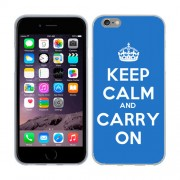 Husa iPhone 6 iPhone 6S Silicon Gel Tpu Model Keep Calm Carry On