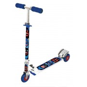Скутер трехколесный X-Match Cheerful, 100 мм PVC с подсветкой, синий