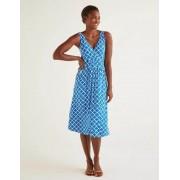 Boden Kräftiges Blau, Gliedermuster Effie Jerseykleid Damen Boden, 44 L, Blue