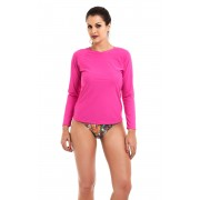Camiseta Uv Praia Adulto Pink
