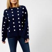 MICHAEL MICHAEL KORS Women's Dot Oversized Top - True Navy - XS - Blue