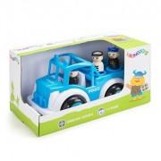 Masina Politie cu 3 figurine - Jumbo