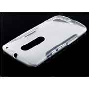 Wave Case for Motorola Moto X Play - Motorola Soft Cover (Frosted Clear/Clear)