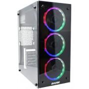 Gabinete Evotec EV-1007, Torre, ATX, negro, 600W