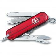 VICTORINOX | Nůž kapesní SIGNATURE RUBY 58mm ČERVENÝ transparentní