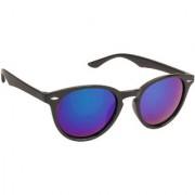 Arzonai Black Target Oval UV Protection Sunglasses For Men & Women [MA-303-S2 ]