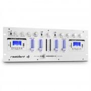 resident dj DJ405USB, бял, 4-канален DJ миксер пулт, 2 x Bluetooth, USB, SD, AUX, функция записване (DJMM2-DJ405USB-WH)