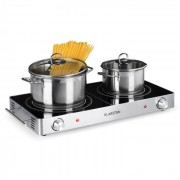 Klarstein VariCook Duo, Котлон за готвене, 3000 W, неръждаема стомана, дръжки, сребърен (TK40-VariCook-Duo-SL)