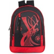 Classic Polyester School Bag |Shoulder Backpacks | Casual Bag for Girls & Boys 25 L Backpack(Red, Black)