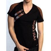Doreanse Мужская черная спортивная футболка с коричневым принтом Doreanse Mexican Style 2575c18