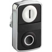 Buton cu cap dublu alb încastrat/negru încastrat - Butoane si lampi din metal Ø22 - Harmony xb4 - ZB4BA7121 - Schneider Electric
