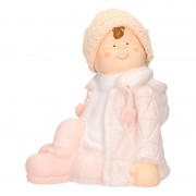 Geen Decoratie beeldje kind jongen in winterkleding 25 cm - Action products