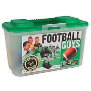 Kaskey Kids Football Guys: Green vs. Black - Inspires Imagination with Open-Ended Play - Includes 2 Full Teams and More - For Ages 3 and Up