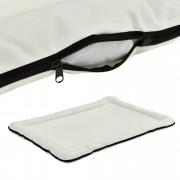 Легло за кучета и котки [en.casa]®, 120 x 85 см, Крем