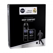 Nivea Men Deep Comfort confezione regalo dopobarba 100 ml + schiuma da barba Smooth Shave 200 ml per uomo