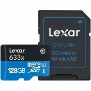 Lexar High-Performance Memory Sdxc Card 128 Gb Classe 10 + Adattatore