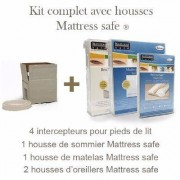 Mattress Safe Kit Housse Anti Punaise Mattress Safe protection complète