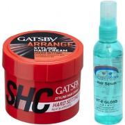 Pink Root Hair Serum GATSBY Styling Hair Cream (SHC) HARD SETTING NEAT ARRANGE Pack of 2