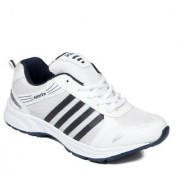 Asian Men White & Blue Lace-Up Training Shoes