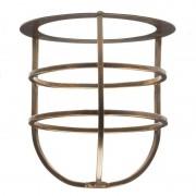 Brass basket for outdoor wall lights