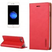Mercury Goospery Luna Azul Para IPhone 8 Y 7 Crazy Horse Textura De Funda De Cuero Flip Horizontal Con Ranuras Para Tarjetas Y Billetera Y Titular (rojo)