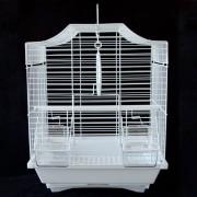 Max 103bí Klec bílá pro ptáky na papoušky 290 x 220 x 370 mm