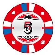 Kerámia póker zseton 5