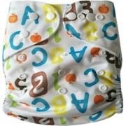 Tinytots Reusable Nappy washable Chemical free leak free Pocket Cloth Diaper with microfiber insert - alphabets