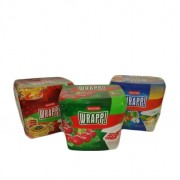 Set 3 cutii alimente dreptunghiulare Curver Wrapp 3 x 500 ml