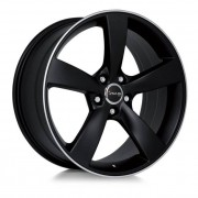 Avus Af10 8,5x19 5x108 Et40 73.1 Black Mate - Llanta De Aluminio