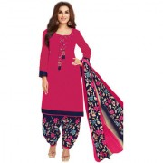 C G FASHION - Pure Cotton Unstitched Dress Material for Women - Pink