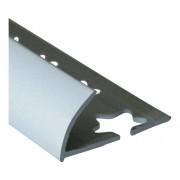 Bagheta semirotunda din aluminiu eloxat 10 mm argintiu LRT105.81