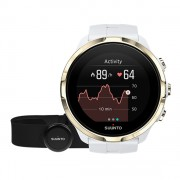 Bratara Fitness Suunto Spartan Sport HR, Waterproof, Pedometru, Monitorizare puls, Activitati sportive (Alb/Auriu)