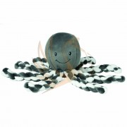Nattou plüss játék 23cm Octopus - antracit /e/