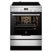 Готварска печка със стъклокерамичен плот Electrolux EKC6430AOX, клас A, 74 л. обем, 4 нагревателни зони, дисплей, инокс
