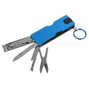Al aire libre multifuncional ultrafina pequena cuchilla clavadora cuchillo - azul
