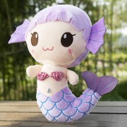 EH Peluches Regalo Para Bebé Niños Niñas Niños Cute Adorable Muñeco De Sirena - Púrpura