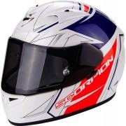 Scorpion Casco Moto Integrale Exo-710 Air Line White Red Blue