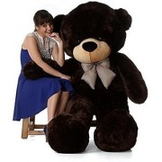 4 feet Chocolate teddy bear / Big very soft for pleasant Gift