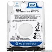 """HDD 2.5"""", 500GB, WD Scorpio Blue, 5400rpm, 8MB Cache, SATA2 (WD5000LPVT)"""