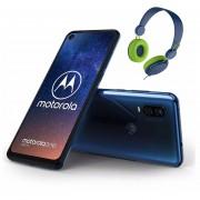 Celular Motorola One Vision 128GB 4GB Single sim + Audifonos - Azul