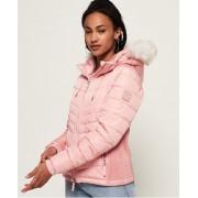 Superdry Luxe Fuji Jacke 44 pink