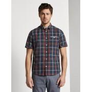 TOM TAILOR Geruite hemd met korte mouwen, Heren, navy red big check, XXXL