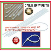 12 inch (1 PACKS OF 100) WHITE NYLON CABLE ZIP WIRE TIE ELECTRICAL
