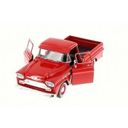 ModelToyCars 1958 Chevy Apache Fleet Side Pickup Truck, Red - Motor Max 79311AC/R 1/24 Scale Diecast Model Toy Car
