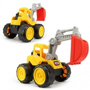 ELECTROPRIME Kids Push Around Truck Model Kits Beach Sand Truck Toys Vehicle - Excavator