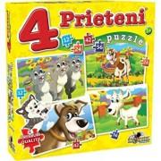 Puzzle 4 Prieteni Mari, 134 piese
