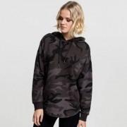 Oversized camo hoodie dam (L,oliv camo)