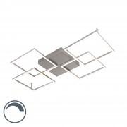 Paul Neuhaus Design plafondlamp staal incl. LED en dimmer - Plazas Mondrian