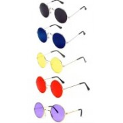 like future Round Sunglasses(Red, Yellow, Blue, Black, Violet)